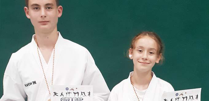 Markus Pustylnyk und Marta Coffaro (von links).