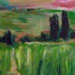 """Auch das Bild """"Heidenturm"""" von Ruth Genné ist bei der aktuellen Ausstellung zu sehen."""
