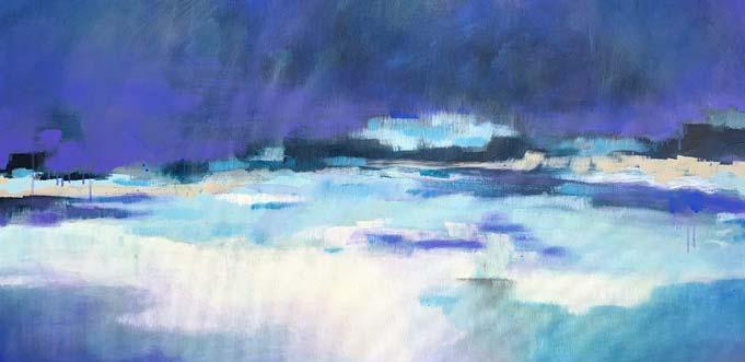 """Auch Werke wie """"Heute mach ich Blau"""" von 2019 sind in der aktuellen Ausstellung von Cornelia Komor zu sehen."""