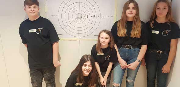 SV-Schüler der RS Plus Eich präsentierten den aktuellen stand des Feedback-Konzeptes beim 14. Landesdemokratietag.