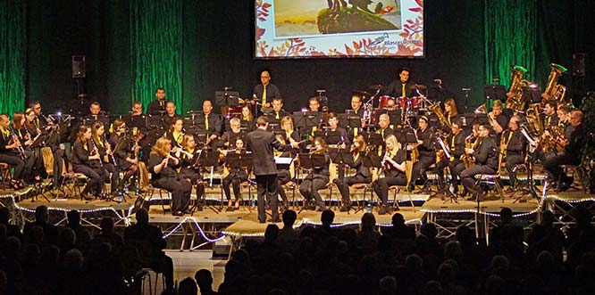 Das Blasorchester Gimbsheim konzertiert am 17. November in der Niederrheinhalle Gimbsheim.
