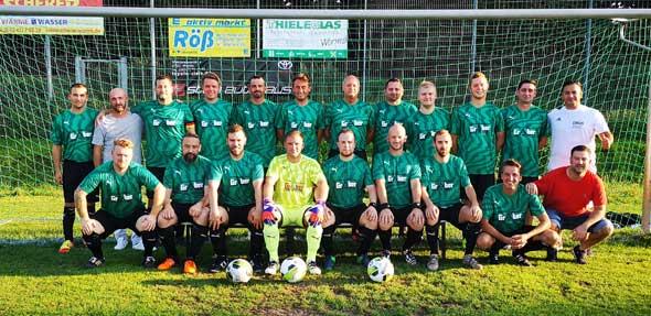Die Ü32 der SG SV Normannia Pfiffligheim / SV 1914 Pfeddersheim bedankt sich beim Spieler und Gönner Patrick Graber, Inhaber Graber Bedachung, für die großzügige Spende des neuen Trikotsatzes.