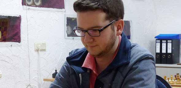 Patrick Völbel startete sein Debut in der 2. Mannschaft des Wormser Schachvereines.