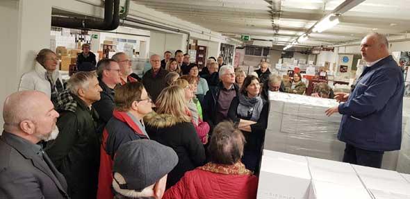 Das Weinkolleg des Ordens der Freunde des Pfeddersheimer Weins fand im BASF-Weinkeller statt.