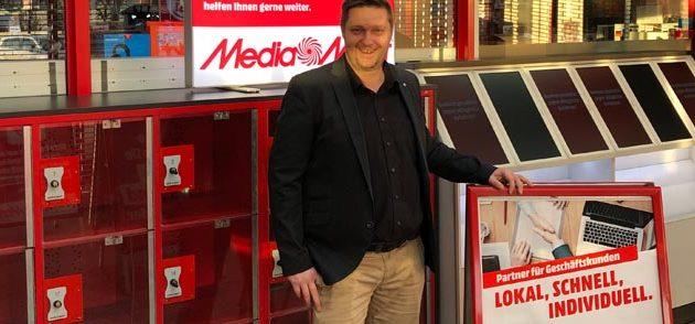 B2B-Berater Ingo Sieger steht kompetent für alle Fragen zur Verfügung. Foto: MediaMarkt