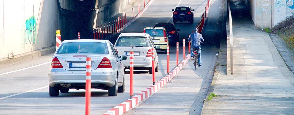 Ausdrücklich lobte Günter Niederhöfer die Stadt für die jüngst erfolgte Abtrennung eines Fahrradstreifens in der Unterführung Speyerer Straße. Ansonsten sei in den letzten Jahren nur wenig für den Radverkehr getan worden.