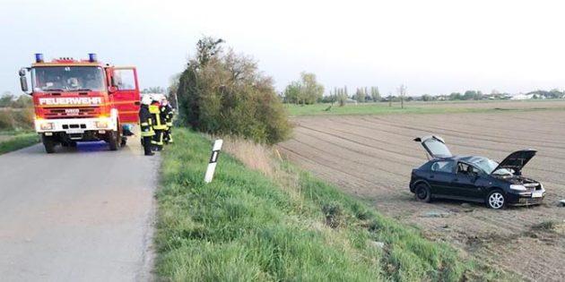 Am PKW entstand ein Totalschaden in Höhe von ca. 5.000 Euro. Foto: Polizei