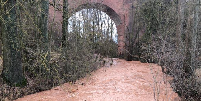 Zuletzt bedrohte das Hochwasser der Pfrimm am 04. Februar 2020 die Ortslage von Monsheim. Die nun geplanten Hochwasserschutzeinrichtungen sollen die Bürgerinnen und Bürger auch vor bedeutend stärkeren Hochwasserereignissen schützen, wie sie theoretisch nur alle 100 Jahre zu erwarten sind.