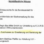 Auszug aus der Tagesordnung der kommenden Ratssitzung am 5. Mai.