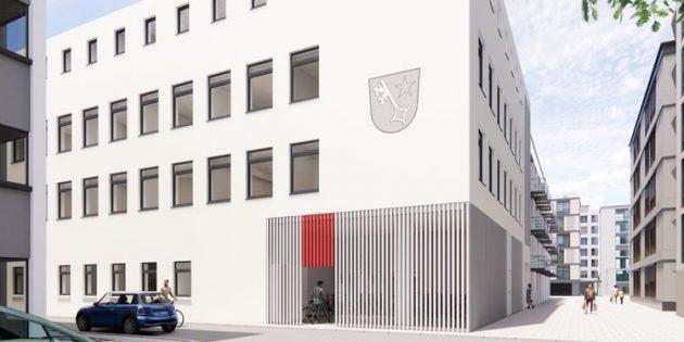 Die Außenansicht der neuen Fassade. Grafik: ehret+klein