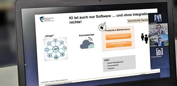 """Auch digital bleibt das Interesse an aktuellen Fokusthemen der gemeinsamen Veranstaltungsreihe """"KMU meets KMH"""" der Hochschule Worms und der IHK für Rheinhessen hoch."""