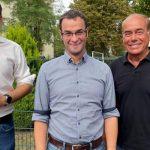 Timo Horst, der ab November in den Stadtvorstand wechselt, mit dem neuen Fraktionsvorsitzenden Dirk Beyer und Stellvertreter Ralf Lottermann (von links).