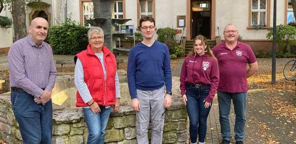 Von links: Ingo Donsbach, Martina Müller, Tobias Rex, Michelle Delzeit und Hubertus Weber. Foto: Birgit Weber