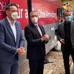 MD Daniel Stich, Prof. Jens Hermsdorf und MdL Jens Guth vor Ort an der Hochschule Worms.
